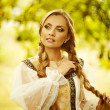 Beautiful Russiprincess from fairy tale — Stock Photo #32134245