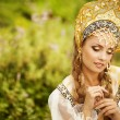 Beautiful Russiprincess from fairy tale — Stock Photo #32134933