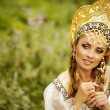 Russian beauty in headdress — Stock Photo #32134973