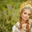 图库照片: Beautiful Russiprincess from fairy tale