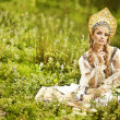 Beautiful Russiprincess from fairy tale — Stock Photo #32135129