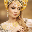 Beautiful Russiprincess from fairy tale — Zdjęcie stockowe #32135225