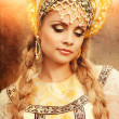 Beautiful Russian princess from a fairy tale — Stock Photo #32135473