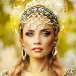 Beautiful Russiprincess from fairy tale — Zdjęcie stockowe #32718451