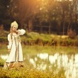 Beautiful Russiprincess from fairy tale — Stock Photo #32718457