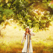 Beautiful Russiprincess from fairy tale — Stockfoto #32718535
