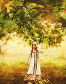 Beautiful Russian princess from a fairy tale — Stock Photo
