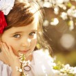 Beautiful little Russian girl — Stock Photo #43702409
