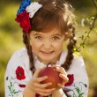 Beautiful little Russian girl — Stock Photo #43702437