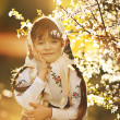 Little girl in Russian traditional dress — Stock Photo