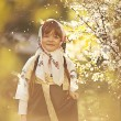 Little girl in Russian traditional dress — Stock Photo #43702485