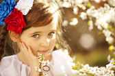Beautiful little Russian girl — Stock Photo