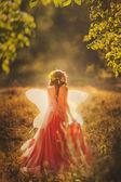 Nymph with butterfly wings — Stock Photo