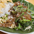 Indonesian Nasi Pecel — Stock Photo