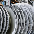 Stock Photo: Rotor of steam Turbine
