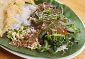 Indonesian Nasi Pecel — Stock Photo