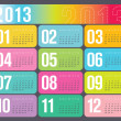 Stock Vector: Yearly 2013 Calendar