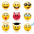 Vetorial Stock : Emoticons character icons