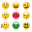Emoticons expressions - Stock Vector