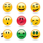 Emoticons expressions — Stock Vector