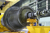 Industrial turbine at the workshop — Photo