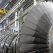 Stock Photo: Rotor of a steam turbine