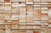 Stack of square wood planks — Stock Photo