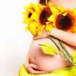 Royalty-Free Stock Photo: Belly and Flowers