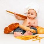 mały kucharz dziecka — Zdjęcie stockowe