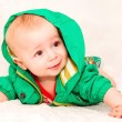 Baby In Green — Stock Photo