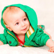 Stock Photo: Baby In Green