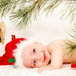 Stock Photo: Little boy in Santa Claus hat