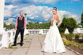Young couple wedding — Stock Photo