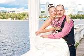 Amo o casal de noivos — Foto Stock