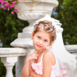 Fashion victim little princess girl portrait — Stock Photo #22400533