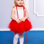 Fashion victim little princess girl portrait — Stock Photo #22565827