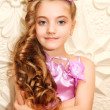 Fashion victim little princess girl portrait — Stock Photo #23777117