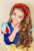 красивая маленькая принцесса — Стоковое фото