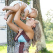 Happy mother with adorable baby - Lizenzfreies Foto