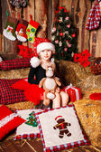 Sweet christmas baby — Stock Photo