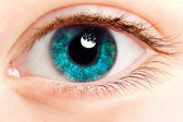 Eye Makeup. Beautiful Eyes Glitter Make-up - Stock Image — Stockfoto