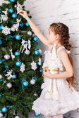 Sweet christmas baby — Stock Photo