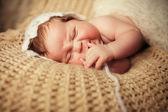 Newborn baby. Adorable newborn baby — Stock Photo