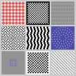 Optical Illusions Set — Stock Vector