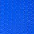 Stock Photo: Blue hexagonal background