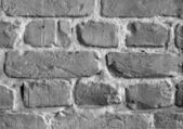 Brick wall, B&W — Stock Photo