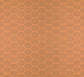Brown seamless tileable hexagonal background — Stock Photo