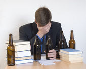 Alcol e lavoro — Foto Stock