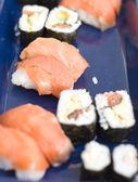 łosoś, sushi — Zdjęcie stockowe