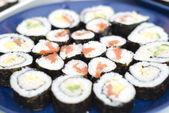 Sushi, salmon, crab, avocado — Stock Photo